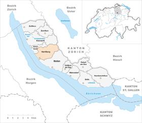 Map of Herrliberg