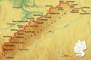 Schwäbische Alb Karte Städte.Schwäbische Alb Reiseführer Auf Wikivoyage