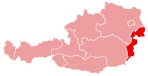 Neusiedl am See District - Image: Karte oesterreich burgenland