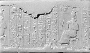 Kadashman-Enlil I - Image: Kassite Cylinder Seal Walters 42619
