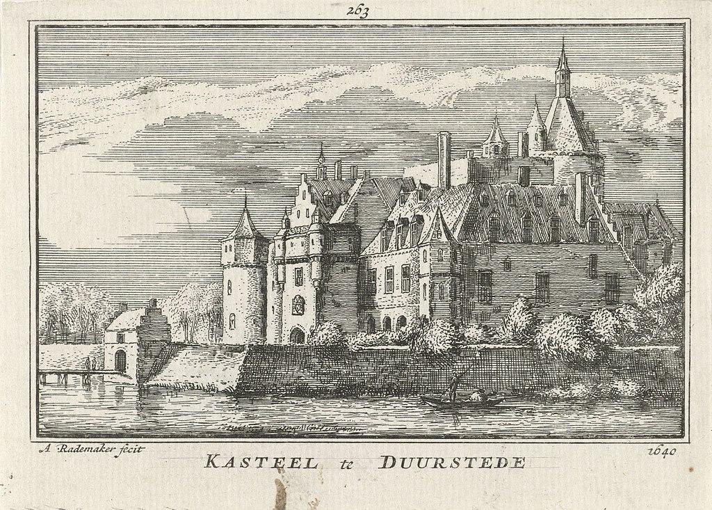 Kasteel Duurstede Kasteel te Duurstede 1640 (titel op object), RP-P-OB-73.616