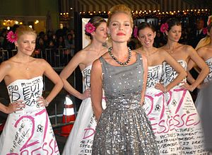27 Dresses - Star Katherine Heigl at the film's premiere in Westwood