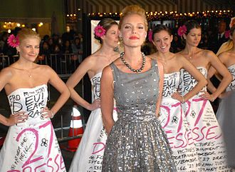 27 Dresses - Katherine Heigl at the film's premiere in Westwood