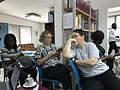 Katherine and Florence at the Wiki Loves Women meeting at Goethe-Institut Accra.jpg