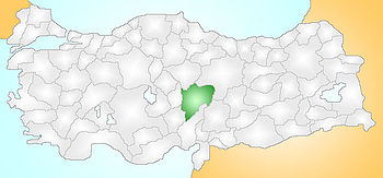 Kayseri Turkey Provinces locator.jpg