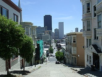 Kearny Street - Kearny Street as seen from Telegraph Hill toward the South