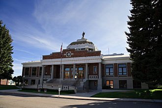 Lincoln County, Wyoming - Image: Kemmerer WY Lincoln County Courthouse