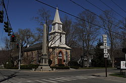 Kent, CT - obelisk and St. Andrew's 01.jpg