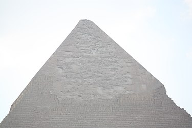 Khafre's Pyramid 2010 top from the Great Sphinx.jpg