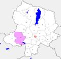Khovsgol Tsagaan-Uul sum map.PNG