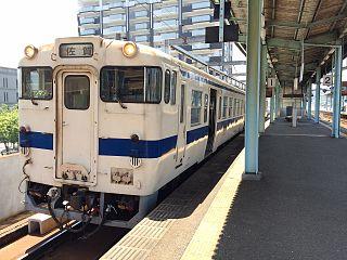 Karatsu Line railway station in Saga prefecture, Japan