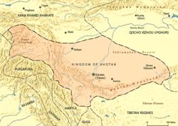 Reino de Khotan em 1001 DC
