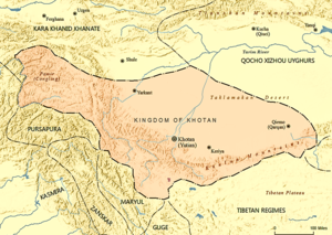 Kingdom of Khotan - Kingdom of Khotan as of 1001 AD