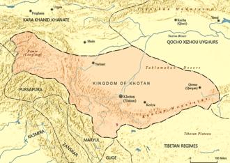 Kingdom of Khotan - Kingdom of Khotan as of 1001 AD