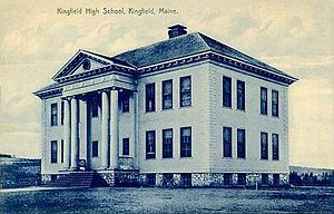 Kingfield, Maine - Image: Kingfield High School, Kingfield, ME