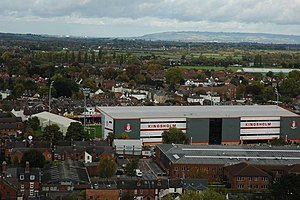Kingsholm Stadium - Image: Kingsholm aerial geograph 2132191