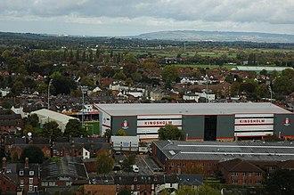 Kingsholm Stadium - Image: Kingsholm aerial geograph 2132191