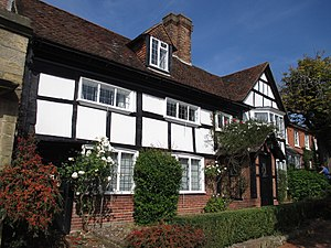 Cuckfield - Kingsleys (formerly Attrees), where the Victorian novelist Henry Kingsley lived