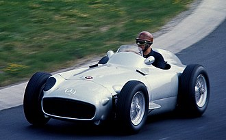 Mercedes-Benz W196 - Karl Kling driving a W196 at the Nürburgring