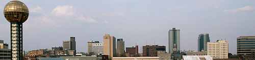 View of the skyline of downtown Knoxville, Tennessee
