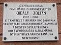 Kodály Zoltán emléktábla, Búza utca, 2017 Nyíregyháza.jpg