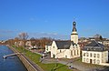 Koeln-Muelheim Rheinpromenade und Clemenskirche.jpg