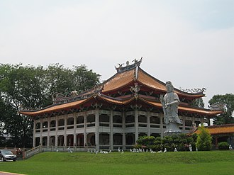 Religion in Singapore - The Kong Meng San Phor Kark See Monastery is a widely visited Buddhist temple in Singapore.