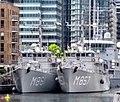 Koninklijke Marine minehunters at South Quay.jpg