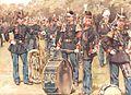 Koninklijke Militaire Kapel, sergeant tamboer en tamboer van het regiment grenadiers en jagers, 1878.jpg
