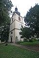 Kostel sv. Jiří (Hněvčeves) - věž.JPG