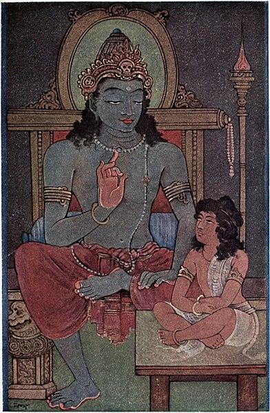 File:Krishna instructing Arjuna.jpg