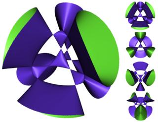 Kummer surface irreducible nodal surface