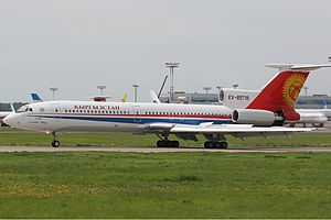 Air Kyrgyzstan - Now retired Tupolev Tu-154 of Kyrgyzstan Air Company