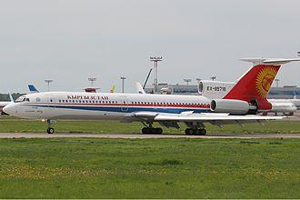 Air Kyrgyzstan - Now retired Tupolev Tu-154 of Kyrgyzstan Air Company