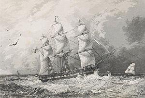Laplace affair - Image: L'Artemise, Arthus Bertrand, 1841 1854