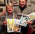 L'illustratore Severino Baraldi con lo scrittore Giordano Berti.jpg