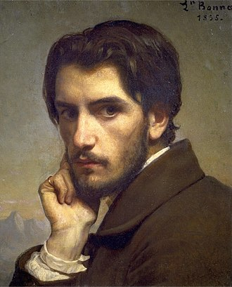 Léon Bonnat - Self-portrait, age 22, circa. 1855
