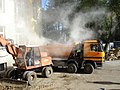 Lódź - excavator and dump truck.jpg