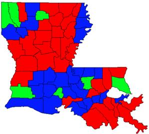 Louisiana gubernatorial election, 1991 - Image: LA Gov Election Oct 91