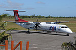 LAM Dash 8Q400 at Inhambane Airport.jpg