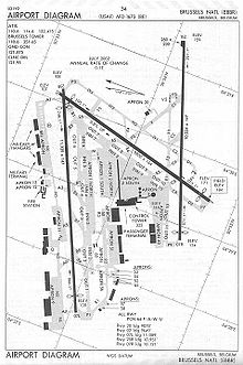 Brussels Airport Wikipedia - Brussels airport map