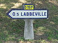 Labbeville (95), plaque Michelin, rue du Grand Biard 2.jpg
