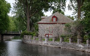 The Fur Trade at Lachine National Historic Site - The Fur Trade at Lachine and original Lachine Canal as in 1820s