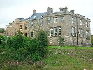 Lands of Lainshaw castle in East Ayrshire, Scotland, UK