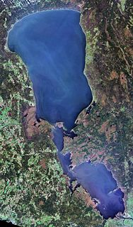 Lake Peipus lake in Estonia and Russia