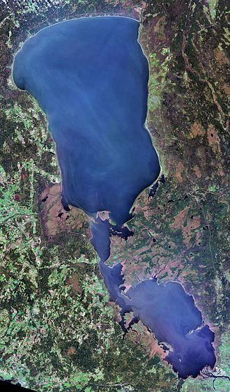 Lake Peipus - Landsat satellite photo