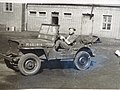 Lande in a Willys Jeep, Husum 1949.jpg