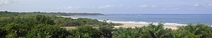 Tamarindo, Costa Rica - Panoramic view of Las Baulas National Marine Park and Playa Grande, located 2 km from downtown Tamarindo.