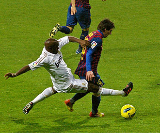 El Clásico - Barcelona's Lionel Messi and Real Madrid midfielder Lassana Diarra in a 2011 Clásico.