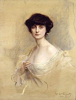 Anna-Elisabeth, comtesse de Noailles par Philip Alexius de László, 1913
